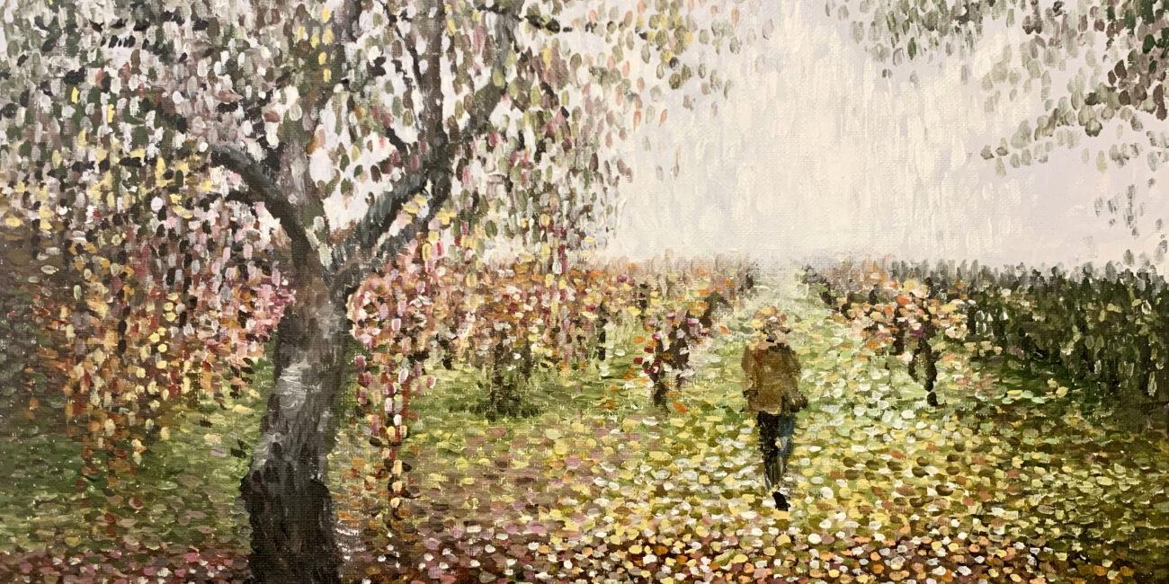 Adelaide Artist Marieka Hambledon's painting of CRFT Vineyards in the Adelaide Hills