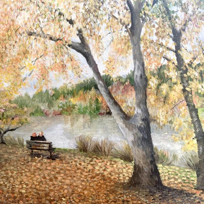 Marieka Hambledon Artist from Adelaide paints Mt Lofty Botanic Gardens